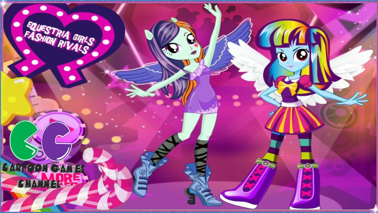 Ecuestria Manera De Las Muchachas Rivals Twilight Sparkle Y Rainbow Dash Juego De Vestir