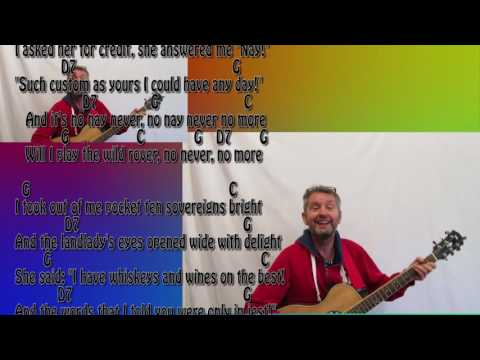 Songs for Buskers #4 The Wild Rover with Guitar Chords and Lyrics sung by Jake Pea Meadow