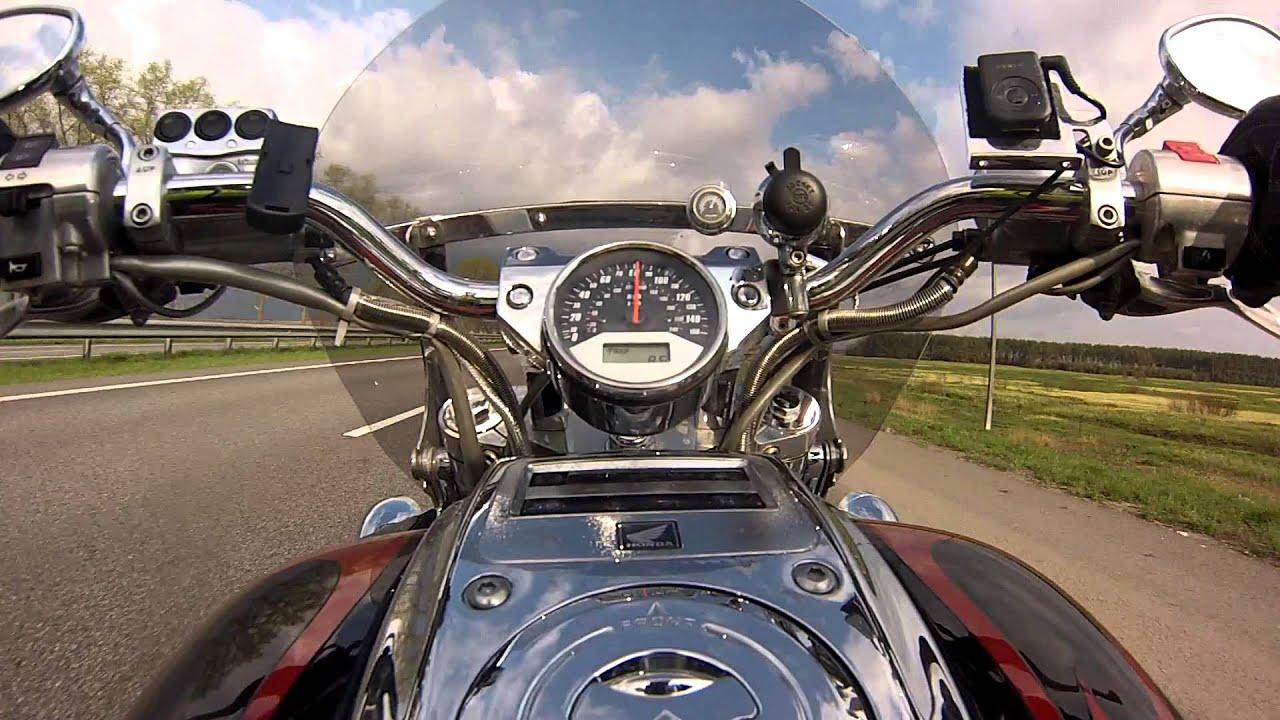 Test Ride. Honda VTX 1800C Acceleration. Full stock. - YouTube