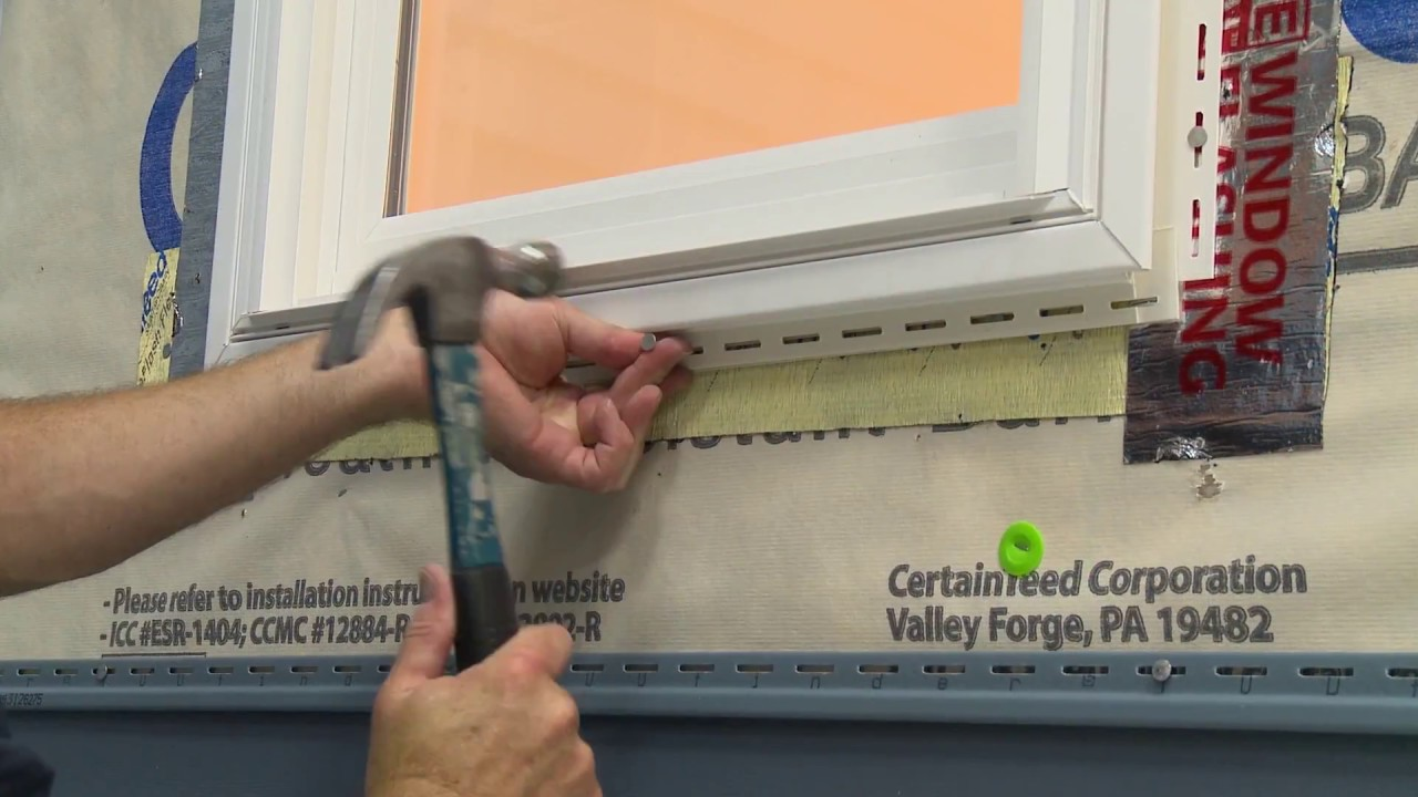 Installing Undersill Trim With Certainteed Vinyl Siding You
