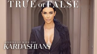 Is Kim Kardashian Going to Law School? | So True / So False | KUWTK | E!