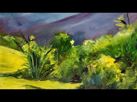 Landscape painting in oil colour by Afreen Khan