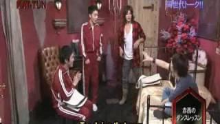 Cartoon KAT-TUN Ep 100 Jin shows us how to dance Johnnys-like ^_^ S...