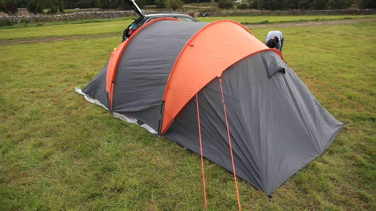 Halfords Aventura 4 Man Tunnel Tent - YouTube