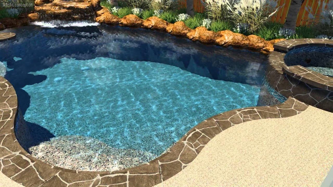 long pool design by backyard amenities youtube