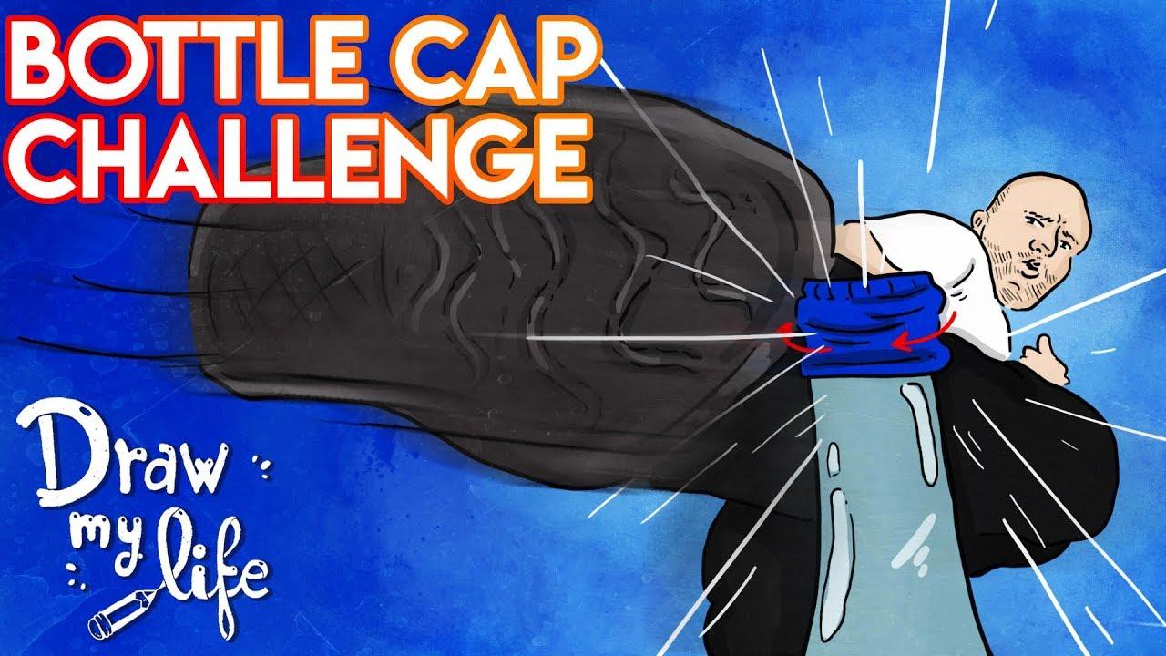 BOTTLE CAP CHALLENGE | El RETO del VERANO | Draw My Life