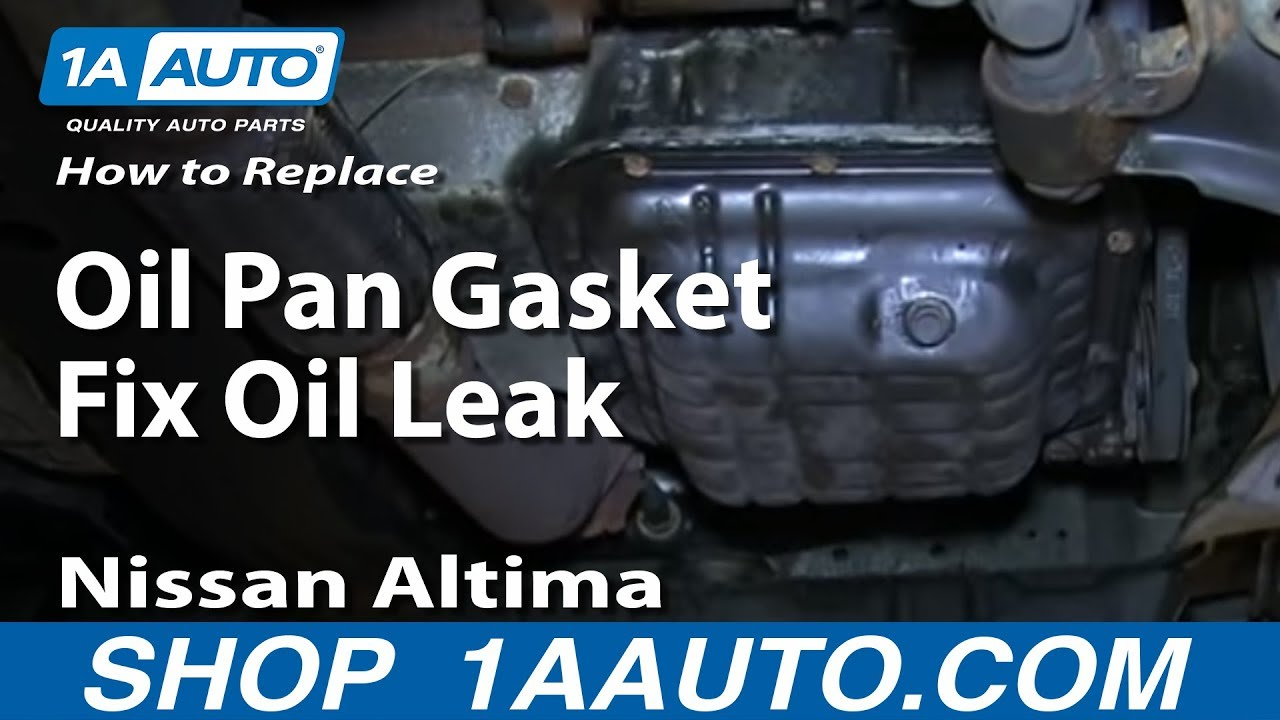 how to replace oil pan gasket fix oil leak 1998