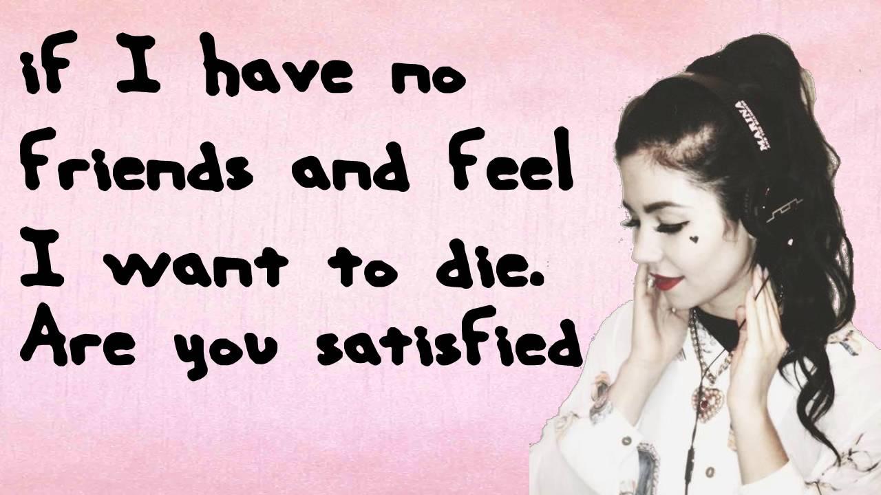 Marina and the Diamonds - Are you Satisfied? [lyrics]