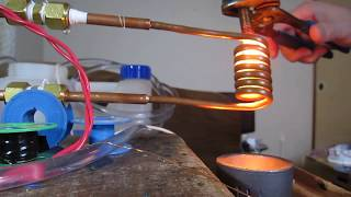 高周波誘導加熱 PLL induction heater ボルト融解 1.5kW