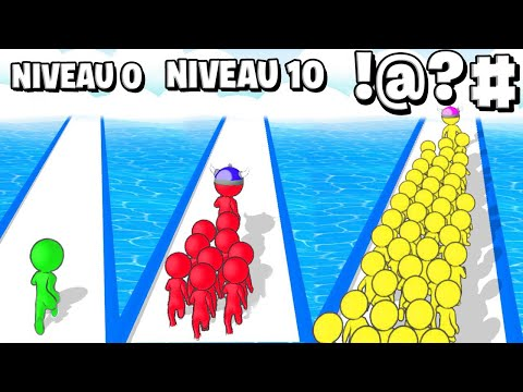 GRANDIR MON ARMÉE AU NIVEAU MAX !! (Crowd Battle 3D)