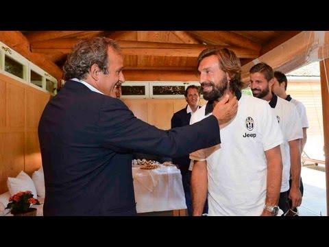 Platini incontra la Juventus a Villa Agnelli - Platini meets Juventus at Villa Agnelli