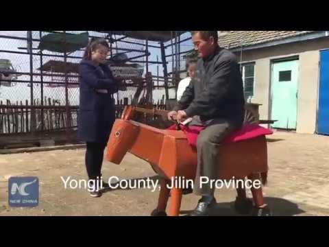 Chinese Man Invents Electric Wooden Horse