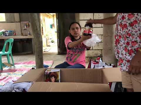 PT 2 OPENING OUR BALIKBAYAN BOX BOHOL PHILIPPINES