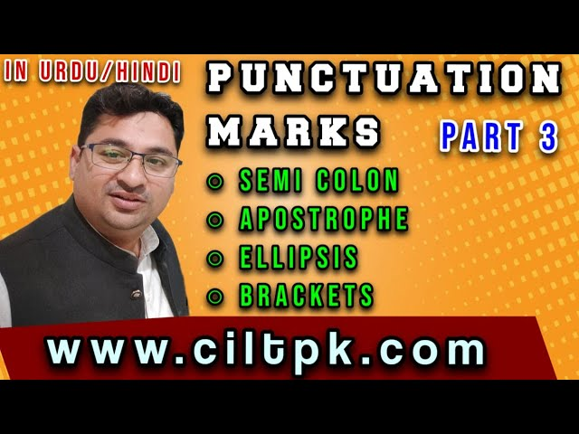 Punctuation part 3 in Urdu Hindi