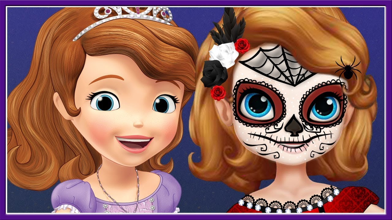 sofia the first halloween face paint costume - disney junior kids