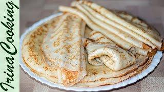 Ажурные тонкие БЛИНЫ НА МОЛОКЕ универсальные | Thin Pancakes Recipe
