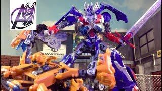 - Transformers The Last Knight Optimus Prime vs Bumblebee Stop Motion