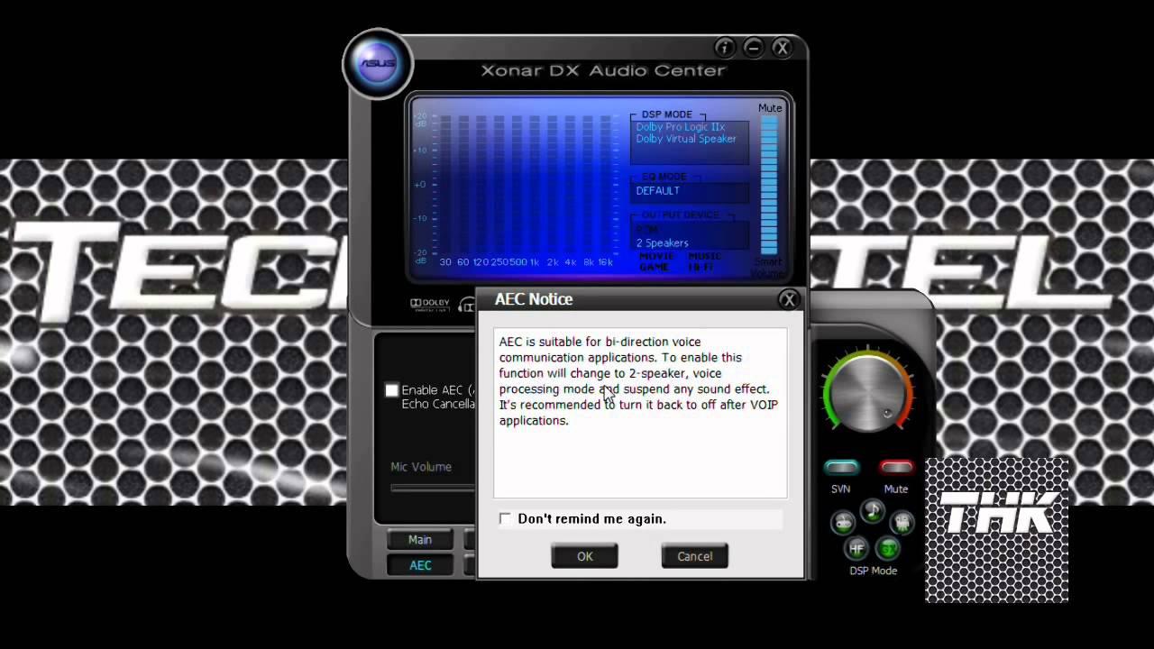 Asus xonar dg microphone not working fix voice tutorial youtube.