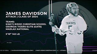 James Davidson '24, Attack | Lacrosse Highlights 2019-2020