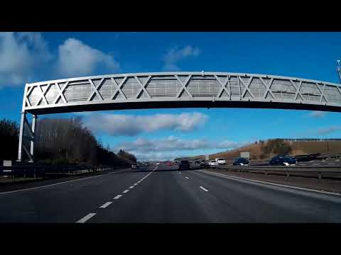 Winter Drive With Music From Queensferry Crossing To Scone Palace Perth Perthshire Scotland