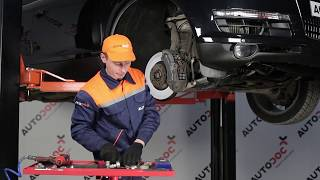 How to replace Anti roll bar stabiliser kit on AUDI A7 Sportback (4KA) - video tutorial