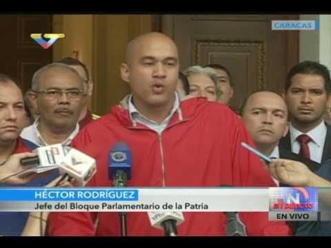 Héctor Rodríguez tras sesión extraordinaria de la Asamblea Nacional del 23 octubre 2016