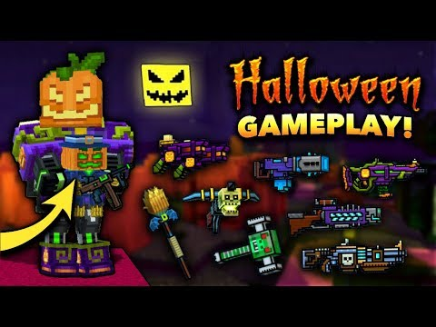 Using All NEW Halloween Weapons In Pixel Gun 3D!! [New Update]