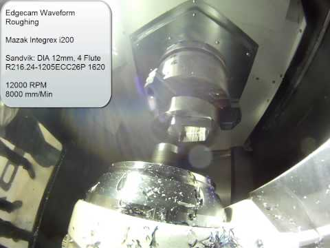 Edgecam Waveform - Mazak Integrex i200 using Sandvik tooling