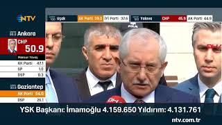 YSK Başkanı Güven, İstanbul'un son verilerini açıkladı