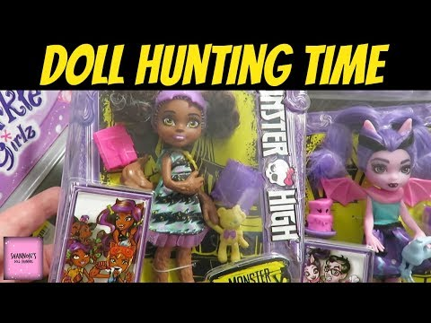 Doll Hunting @ Walmart & ToysRUs Monster high Family Barbie My Life As & More | ShannonsDollChannel