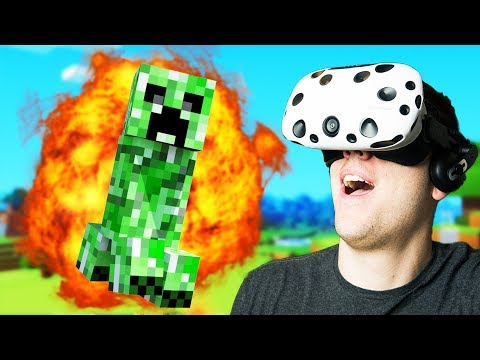 Virtual Reality Minecraft Mulitplayer! - Vivecraft Gameplay - VR HTC Vive