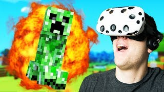 Virtual Reality Minecraft Mulitplayer! - Vivecraft Gameplay - VR HTC Vive