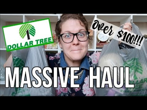 DOLLAR TREE HAUL   SHOP WITH ME   OVER $100!!!