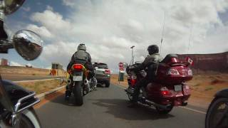 Motorcycle Ride Into Monument Valley Park - Contour HD