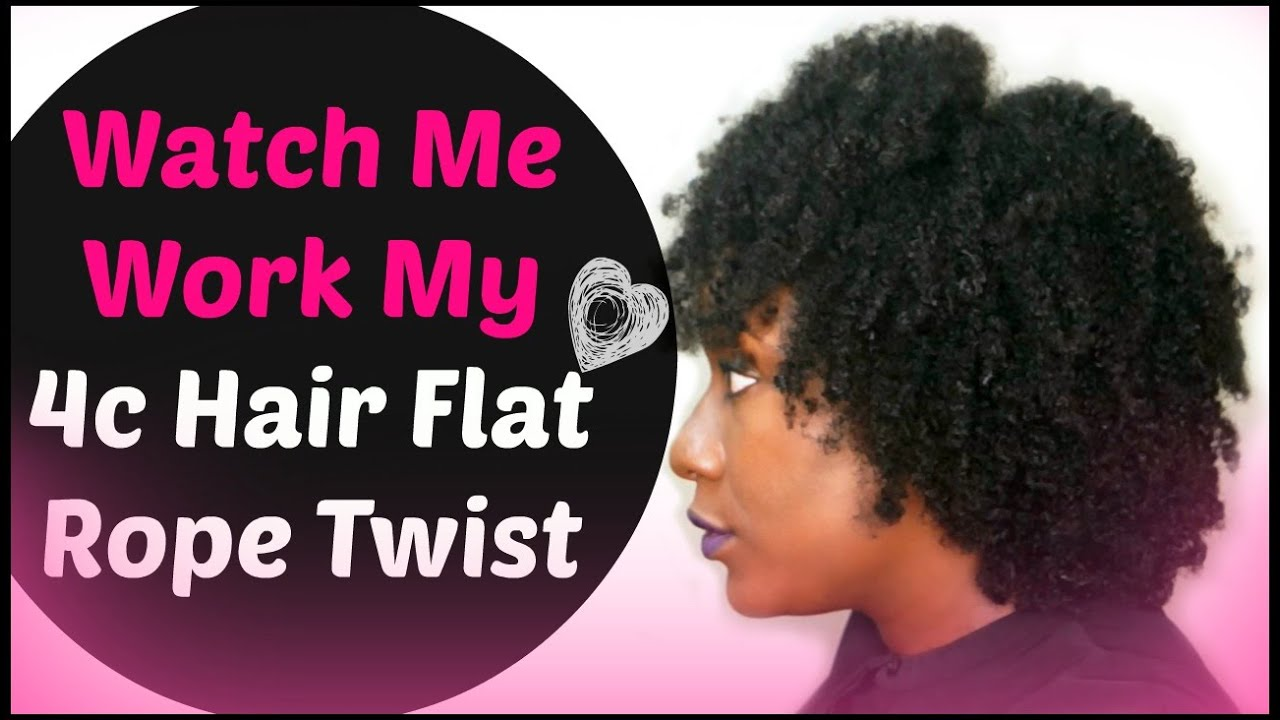 easy flat twist out hairstyle on 4c natural hair ( roping method