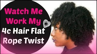 Natural Hairstyle: Watch Me Slay This Flat Twist Out using my Rope Method ( 4c 4b )