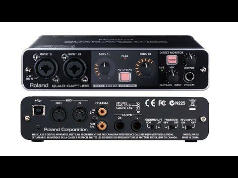 Interface Áudio Roland Quad-Capture USB 2.0
