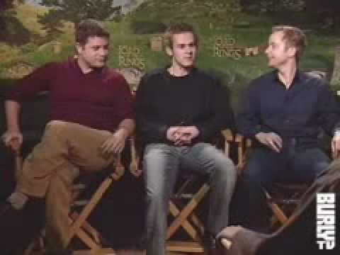 """""""The Lord of the Rings - The Fellowship of the Ring"""" Burly TV Cast Interview (Part 2)"""