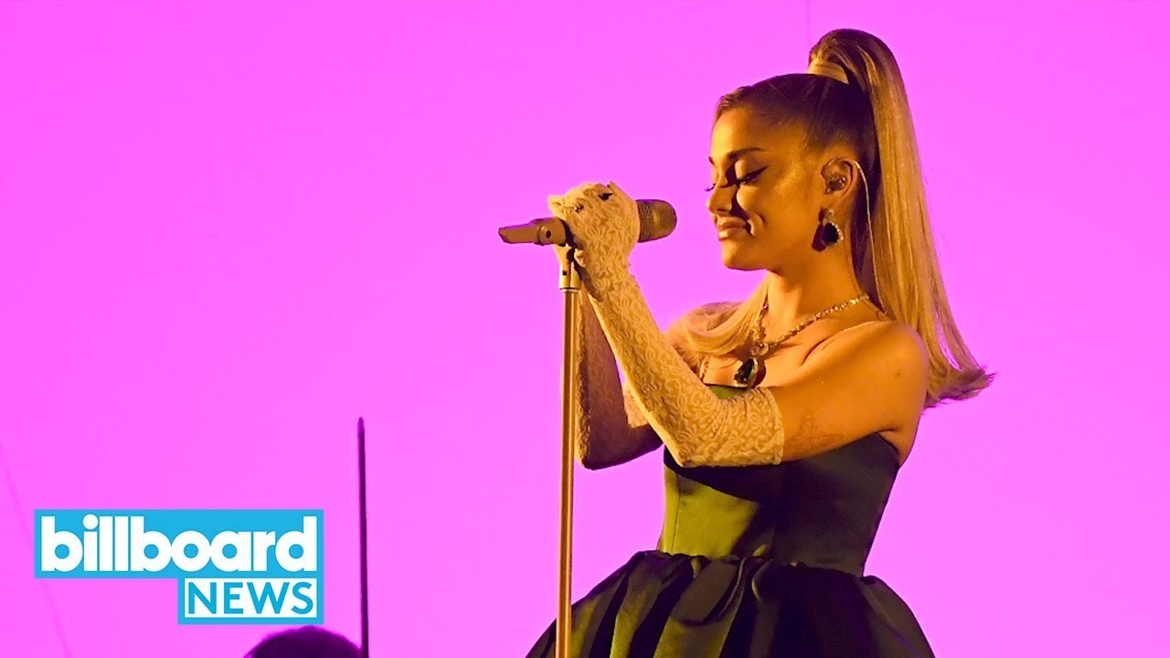 ariana grande flawlessly performed imagine 7 rings more at 2020 grammys billboard news youtube ariana grande flawlessly performed imagine 7 rings more at 2020 grammys billboard news