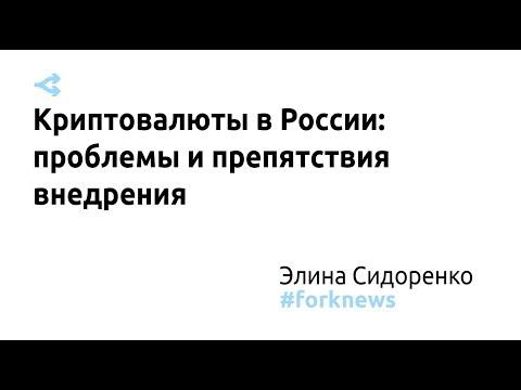 Криптовалюты в России: проблемы и препятствия внедрения — Элина Сидоренко