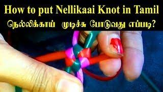 How to put Nellikaai Knot in Tamil | நெல்லிக்காய்  முடிச்சு போடுவது எப்படி?
