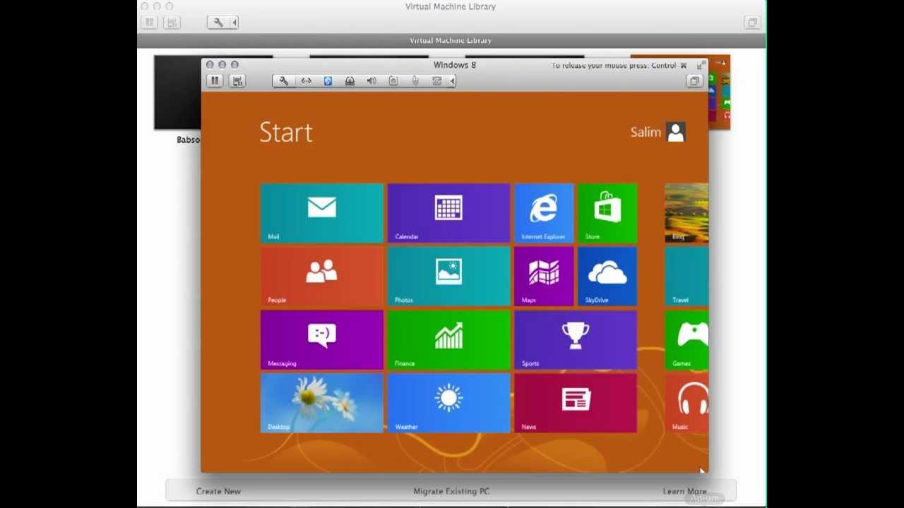 Howto: Windows 8 Full Installation on VMWare Fusion (Mac OSX)