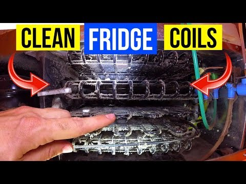 How To Clean Refrigerator Condenser Coils Fast & Easy! -Jonny DIY