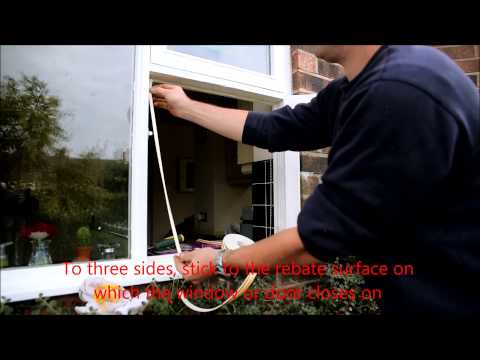 How to fit EPDM or foam draught proofing to windows and doors