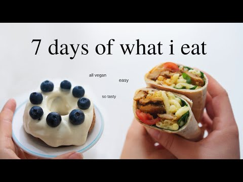 What I eat in a Week (as a vegan home alone)