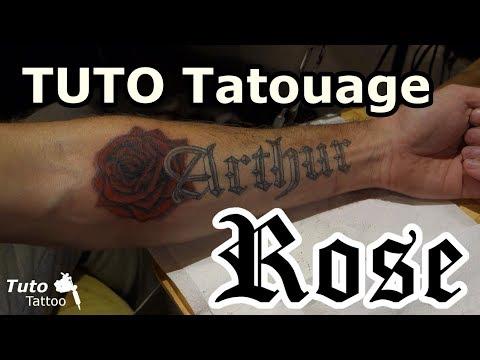 Tutoriel tatouage rose rouge.