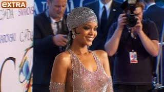 Rihanna Rocks Shockingly Sheer Swarovski Crystal Dress at CFDA Awards