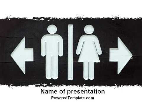 gender difference powerpoint template by poweredtemplate