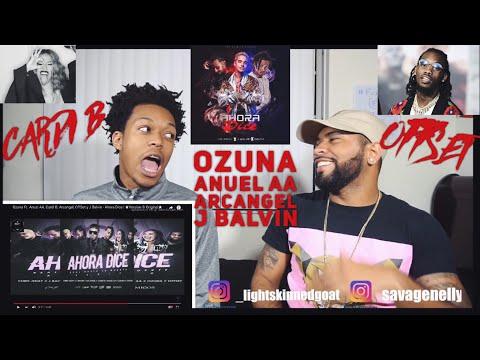 Ozuna Ft. Anuel AA, Cardi B, Arcangel, OffSet y J Balvin - Ahora Dice | FVO REACTION