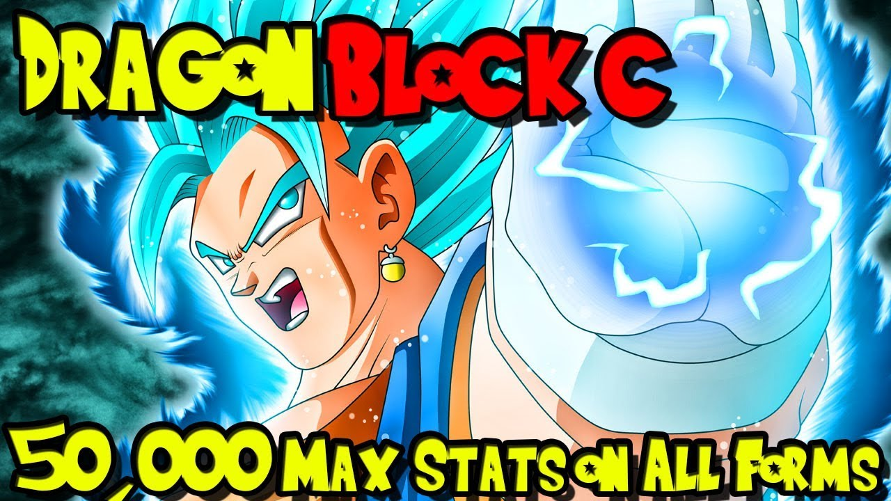 50,000 STATS ON ALL ABILITIES! THE STRONGEST CHARACTER EVER! | Dragon Block  C UPDATE